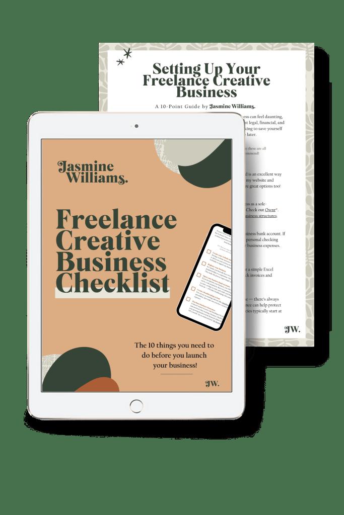 freelance creative business checklist mockup