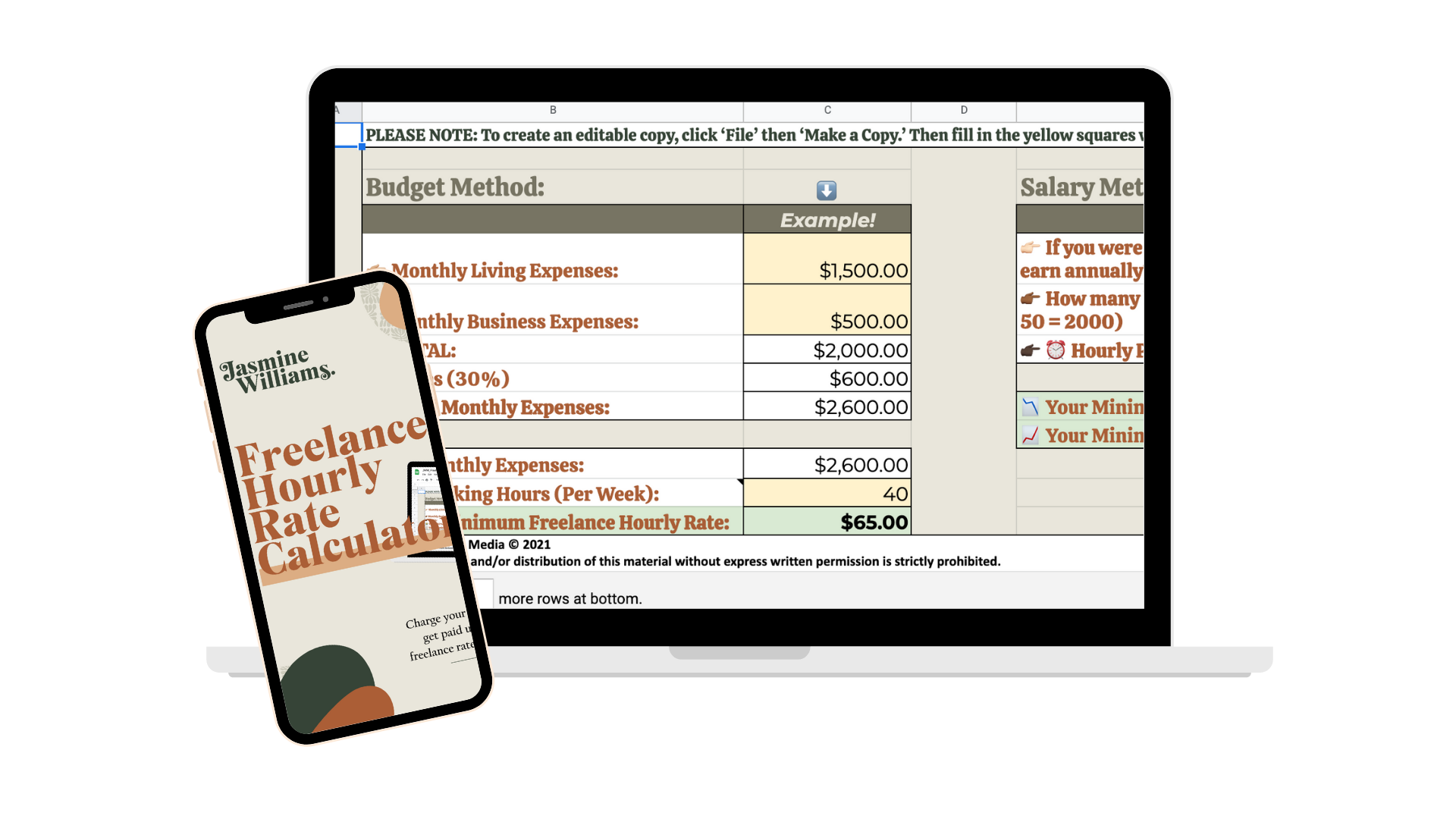 Freelance Rate Calculator Mockup