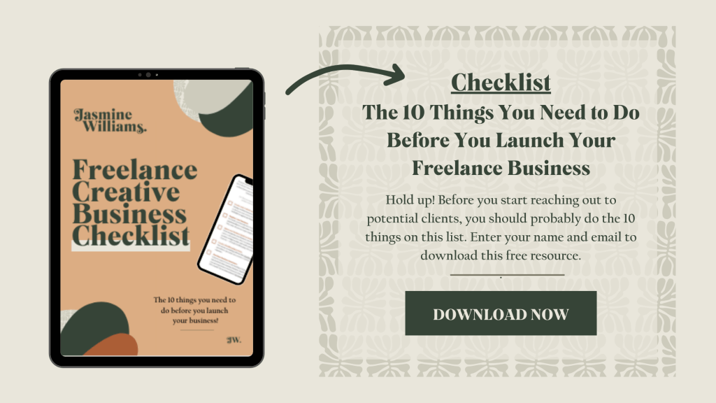 Freelance Creative Business Checklist - The 10 Things You Need To Do Before You Launch Your Freelance Business